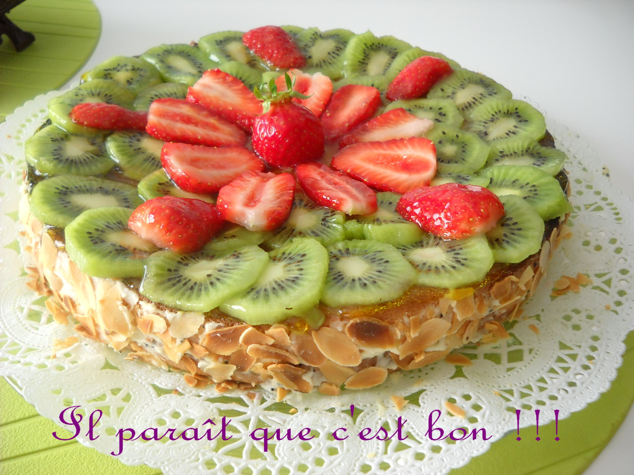 gâteau aux fruits de la passion